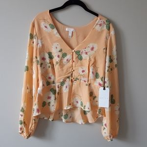 New Leith Floral Crop Blouse